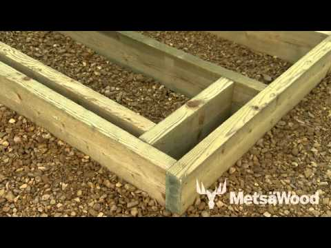Boxing in posts for your decking
