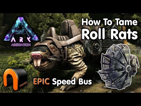 ARK - HOW TO TAME A ROLL RAT (EPIC SPEED ROLLER) on Aberration