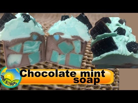 Piping and Cutting Chocolate mint soap