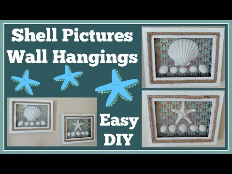 Shell Pictures 🐚/ Wall Hangings Easy DIY