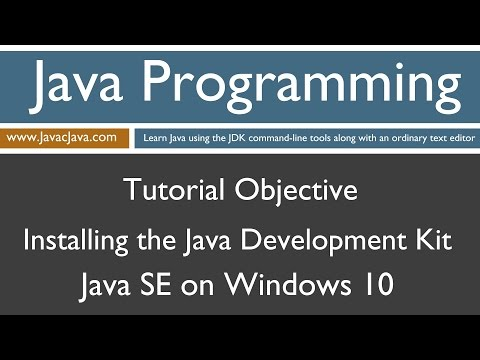 Learn Java Programming - Installing the Java Development Kit (JDK) on Windows 10 Tutorial