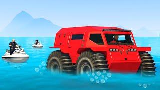 Cops Didn't Know My Tank Drives On Water.. (GTA 5)