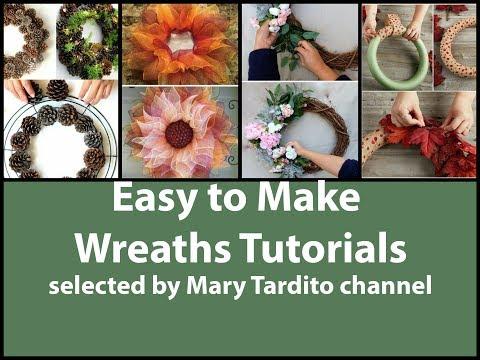 Easy to Make Wreaths Tutorials – Wreath DIY Inspiration