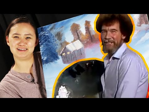 Beginner Painters Try To Paint Like Bob Ross