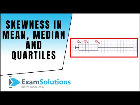 Skewness - How the mean, median or quartiles compare : ExamSolutions Maths Revision