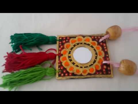 How to make necklace with cardboard #best out of waste