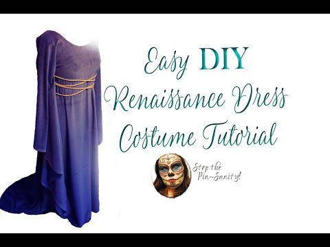 Easy DIY Renaissance Dress Tutorial - Stop the Pin-Sanity