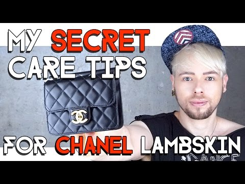 HOW TO CARE FOR CHANEL LAMBSKIN BAGS !