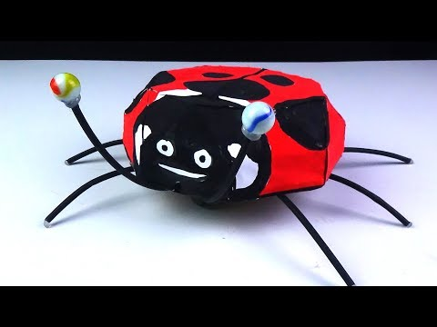 How to Make Remote Control Insect Ladybug Robot - Diy Rc Toy Easy at  Home