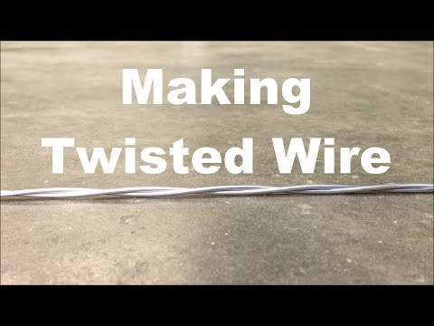 Making twisted wire