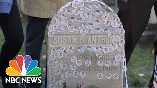 Women Voters Line Up To Honor Susan B. Anthony On Historic Election Day | NBC News