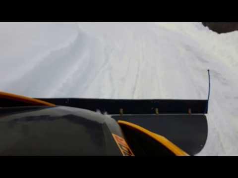 Kimpex click n go 2  can am maverick plowing snow
