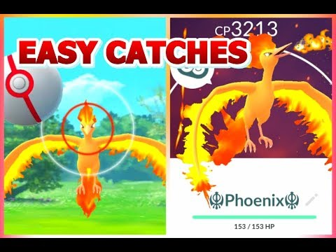 How to catch Moltres & LEGENDARY Birds in Pokemon GO | Moltres Catches | NEW Coin Features