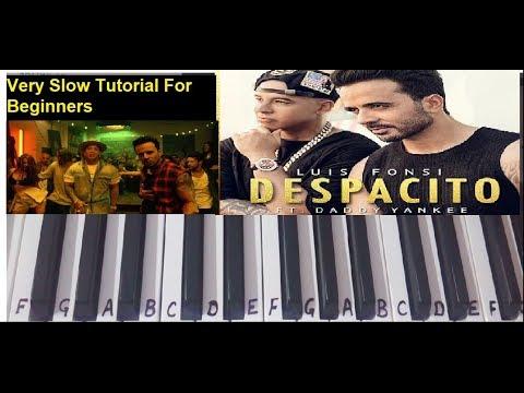 Despacito | Keyboard Cover|Tutorial|Harmonium|Easy