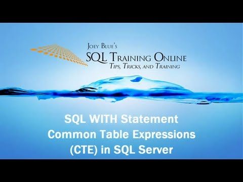 SQL With - How to Use the With (CTE) Statement in SQL Server - SQL Training Online