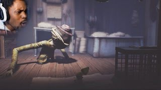 THIS DUDE IS BREATHING ON MY BACK MEAT | Little Nightmares (Part 2)