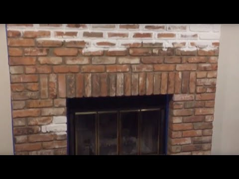 How to Paint a Brick Fireplace White - Upgrade the look of your living room for cheap!