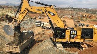 Cat 6015B Excavator Loading Trucks - Sotiriadis Brothers