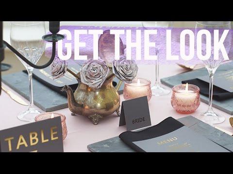 Get The Look: Matte Black & Blush Pink