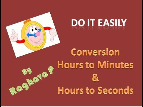 Excel:Convert Hours to Minutes and Seconds easily