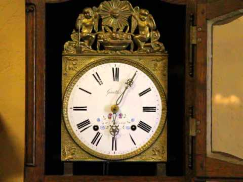 Country French Oak Tall Case Grandfather Clock W-C2781
