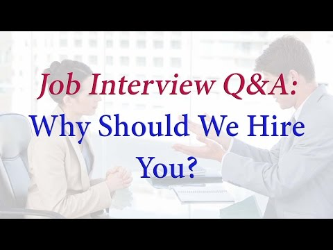 Why Should We Hire You? - Sample Answer ✔️