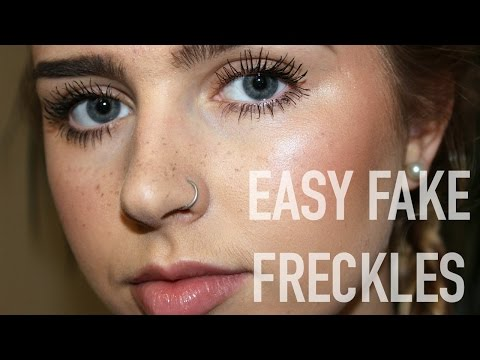 How To: REALISTIC Fake Freckles!