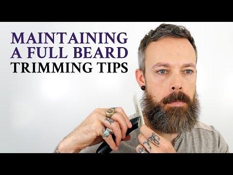 How to trim a beard - beard trimming maintenance