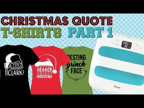 Christmas Shirts W/Cricut EasyPress (Part 1)