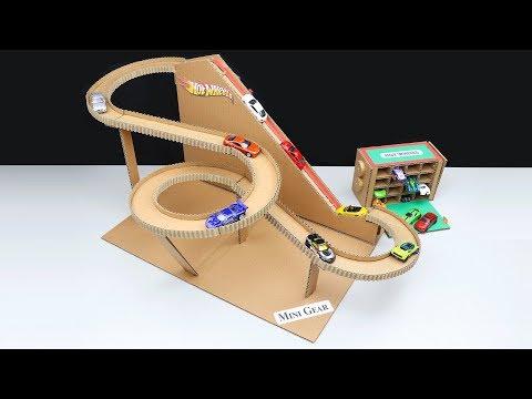 Hot Wheels Ultimate Garage DIY from Cardboard