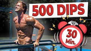 500 DIPS EN 30 MINUTES ?! ⏰ CHALLENGE