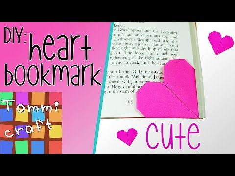 How to Make a Heart Shaped Paper Bookmark