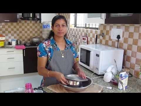 Preparing Ghee Cake