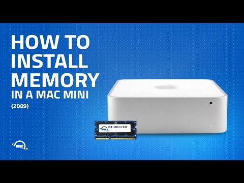 How to Install Memory (RAM) in a 2009 Mac mini