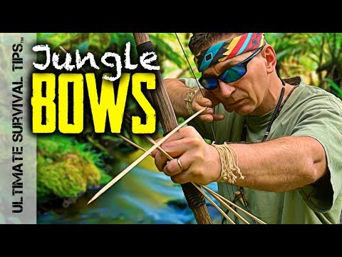 E6: Jungle Bushcraft - Primitive Bows - Crazy Monkeys, Monster Fishing & SEARCHED by POLICE