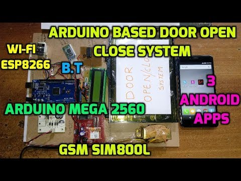 Arduino Based Door Open Close System Using Wi-Fi, Bluetooth, GSM-SMS, Android App