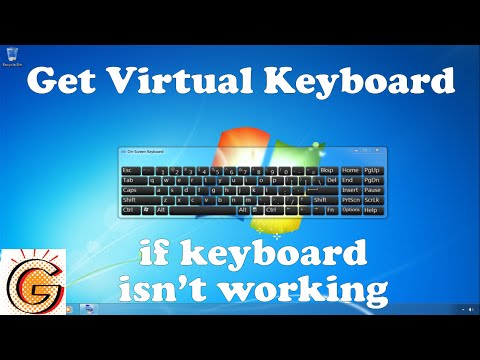 Get virtual Keyboard if keyboard is not working