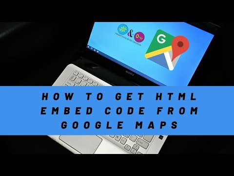How to get HTML embed code from New version of Google Maps