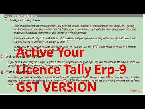 How Resolve Error Reactive or Active Licence Tally Erp 9 Gst Version Hindi video