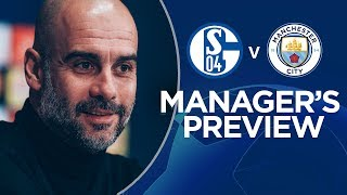 """I'm a Lucky guy!"" | Pep previews FC Schalke 04 v Man City | Champions League"