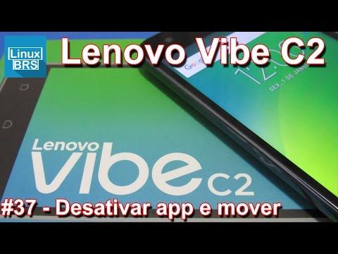 Lenovo Vibe C2 - Desativar app e mover para Micro SD - Português