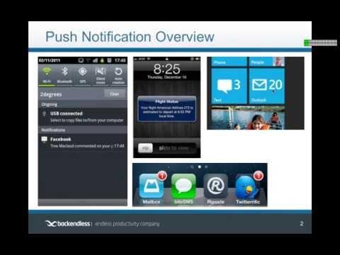 Backendless Push Notifications