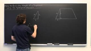 The Height Of A Trapezoid With The Pythagorean Theorem