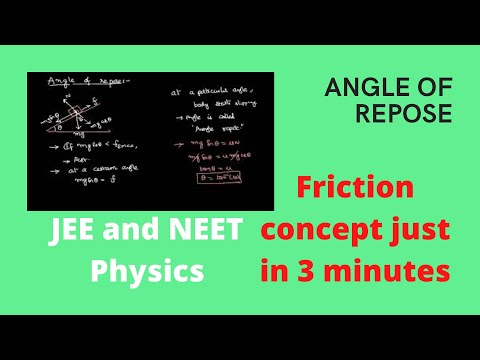 Angle of Repose on a Rough Inclined Plane : Friction