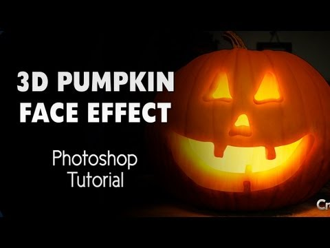 PHOTOSHOP | Realistic 3d pumpkin face effect to any pumpkin image