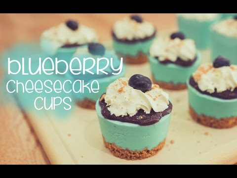No bake Blueberry Cheesecake Cups - CAKE QUIRK