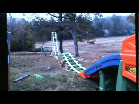 How to build a homemade rollercoaster