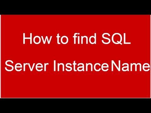 How to find SQL Server Host and Instance Name for SQL Server Management Studio