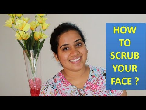 स्क्रब कैसे करे I How To SCRUB Your Face Properly | Happy Pink Studio