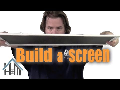 How to build a screen for a window. Easy! Home Mender